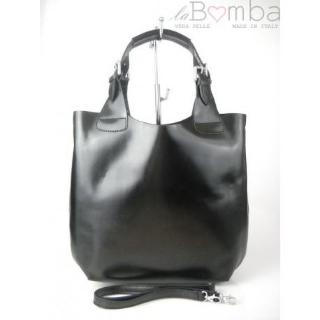 SHOPPER BAG VERA PELLE A4 CAMEL SB1C