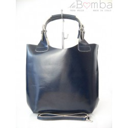 SHOPPER BAG VERA PELLE A4 GRANATOWA SB1BS