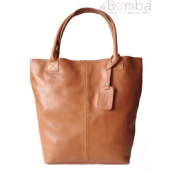 SKÓRZANA TOREBKA SHOPPER BAG XXL REAL LEATHER WOREK A4 CAMEL S6C