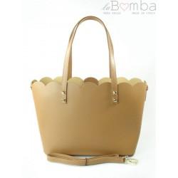SHOPPER BAG A4 WŁOSKA SKÓRZANA TOREBKA CAMEL SB444C