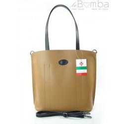 SHOPPER BAG A4 WŁOSKA SKÓRZANA TOREBKA CARMEL SB466C