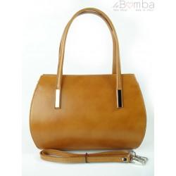 Włoska skórzana torebka ,kuferek ,teczuszka Vera Pelle Camel VP144C
