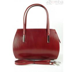 Włoska skórzana torebka ,kuferek ,teczuszka Vera Pelle Czerwona VP144R