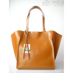 WOREK SHOPPER BAG A4 CAMEL V4C