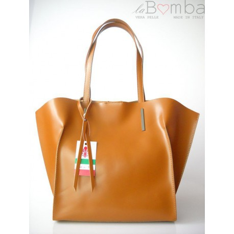 WOREK SHOPPER BAG A4 CAMEL V4C