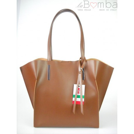 WOREK SHOPPER BAG A4 BRĄZ V4M