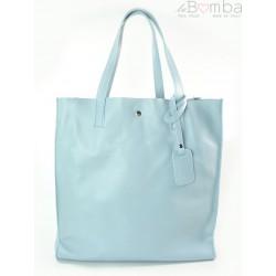 SHOPPER BAG BABY BLUE TOREBKA WOREK VERA PELLE NA RAMIĘ A4 GL46BB