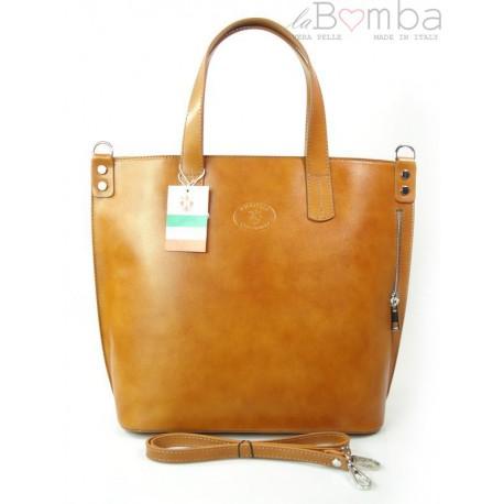 CAMEL WŁOSKA DUŻA TORBA SHOPPER BAG A4 SB546C