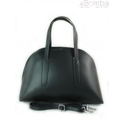 Kuferek Vera Pelle Włoska torebka do ręki czarny K652N