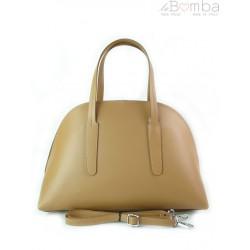 Kuferek Vera Pelle Włoska torebka do ręki camel K652C