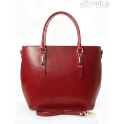 BORDO WŁOSKA TORBA SHOPPER BAG A4 BIELSKO SB522R