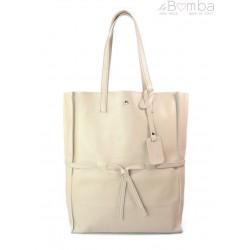 Duży pojemny worek XXL Vera Pelle Shopper bag A4 różowy VPX57RR