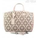 Shopper Bag Vera Pelle Ażurek jasny róż SB543RR