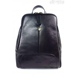 Włoski plecak Vera Pelle Czarny VP396N