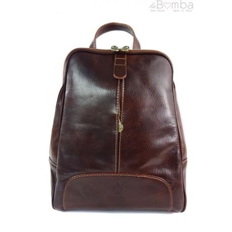 Włoski plecak Vera Pelle Brązowy VP396M
