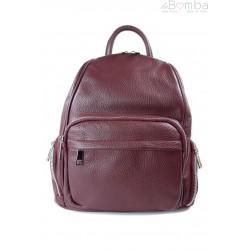 Elegancki poręczny plecak Vera Pelle Bordowy VP344R