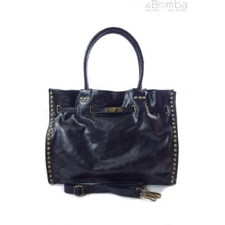 Duża pojemna torba na ramię Shopper Bag czarna SB577N