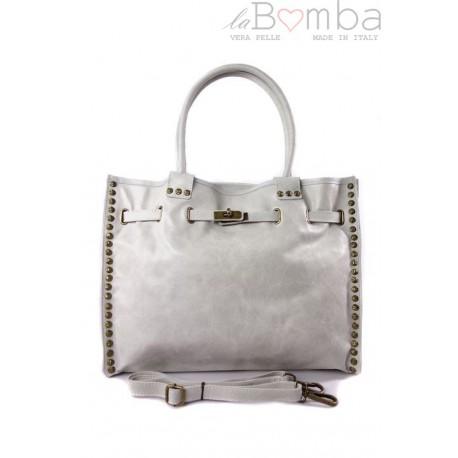 Duża pojemna torba na ramię Shopper Bag ecru SB577B