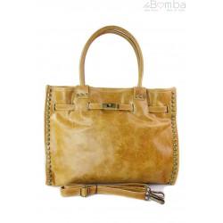 Duża pojemna torba na ramię Shopper Bag camel SB577C