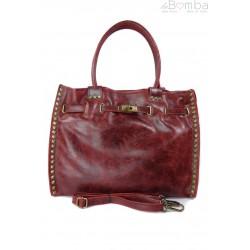Duża pojemna torba na ramię Shopper Bag bordo SB577RR