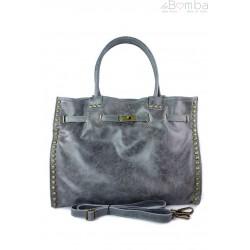 Duża pojemna torba na ramię Shopper Bag szara SB577G