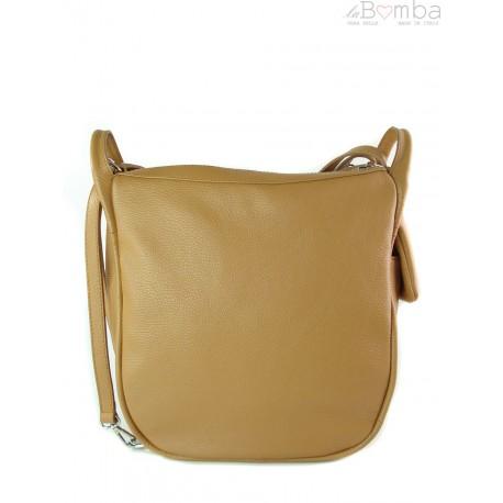 Worek, plecak , duża torba trzy komory srebrne okucia, pojemna A4 Camel W393C