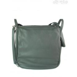 Worek, plecak , duża torba trzy komory srebrne okucia, pojemna A4 Szara W393G
