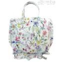 Włoska torba A4 Shopper Bag Vera Pelle Kwiaty SB689K1