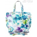 Włoska torba A4 Shopper Bag Vera Pelle Kwiaty SB689K4